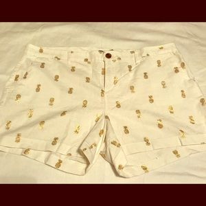 Old Navy Linen Pineapple Shorts